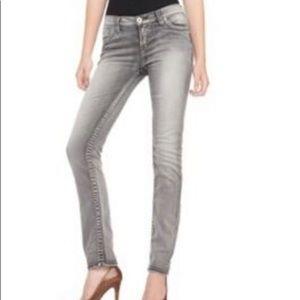Silver Jeans gray pixie super skinny stretch 29
